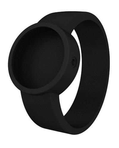 O clock Unisex-Wechselarmband für Armbanduhr schwarz Silikon 32 mm COVERL_NS