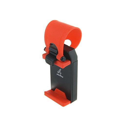 DAM Gummi-Adapter für Lenkrad KFZ-Halterung für Smartphone, verstellbar, für iPhone, iPod, Galaxy, Xperia, LG, Nokia, HTC, Huawei, Google Nexus, Alcatel, Motorola, BQ, Fnac, ZTE, Xiaomi...