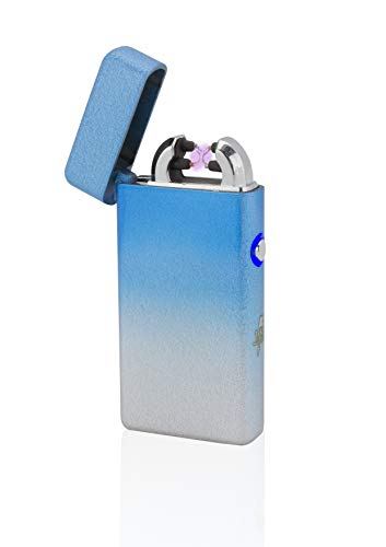 TESLA Lighter T08 Lichtbogen-Feuerzeug, elektronisches USB Feuerzeug, Double-Arc Lighter, wiederaufladbar, Mixed SkyBlue