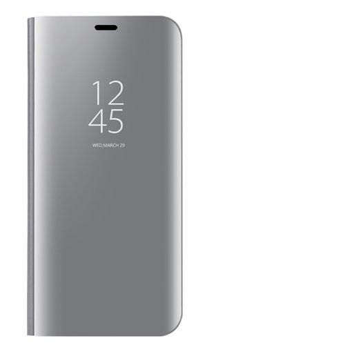Funda Specchio Placcatura Flip Custodia per Huawei Mate 9 (Argento)