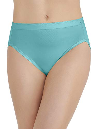 Vanity Fair Damen Comfort Where It Counts Hi Cut Panty 13164 Unterhose, Rainforest Aqua, X-Large (34) - Bikini Slip Hanes