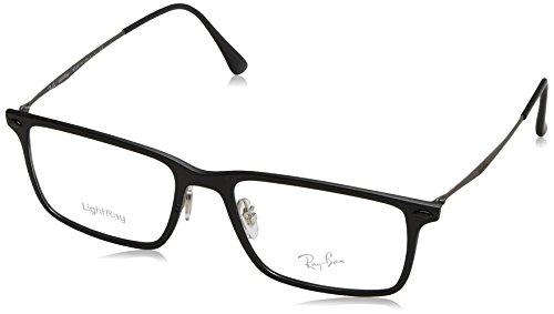 Ray Ban Optical Montures de lunettes RX7050 Pour Homme Matte Black, 52mm 2077: Matte Black