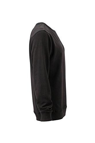 James & Nicholson Herren Basic Sweat Sweatshirt Schwarz (Black)