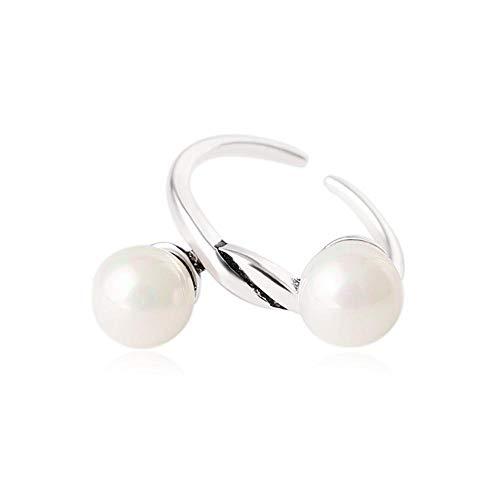 Aoligei Einstellbarer Ring Ring, Vergoldet und 925 Silber Retro-perlenring Öffnungen