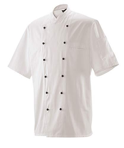 Kochjacke Bäckerjacke Jacke Halbarm 1/2 Arm Weiß in Gr. 52 = Damen 44 für Damen & Herren