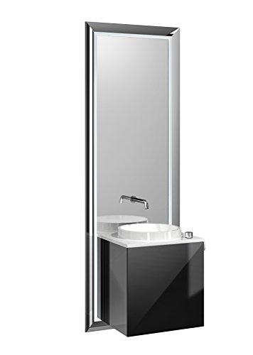 Türgriff Emco (emco touch pure Waschplatz, 45 cm Rahmen Chrom, Front Schwarz, Griff rechts)