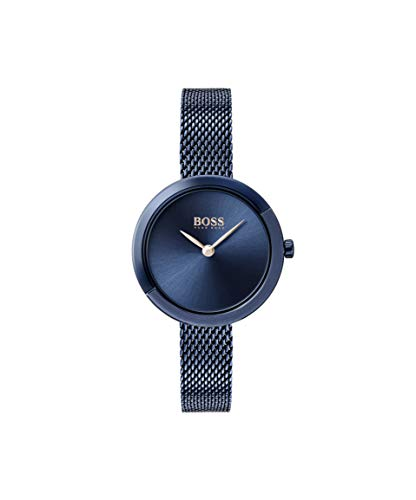 Hugo BOSS Damen Analog Quarz Uhr mit Edelstahl Armband 1502497 - Movado Damen Uhren