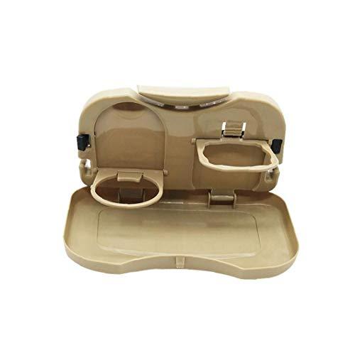 Auto Lagerung Fach Folding Autorücksitz Organizer Esstablett Aufbewahrungsbehälter Kopfstütze Hanger Organizer-Becherhalter für Auto-Beige