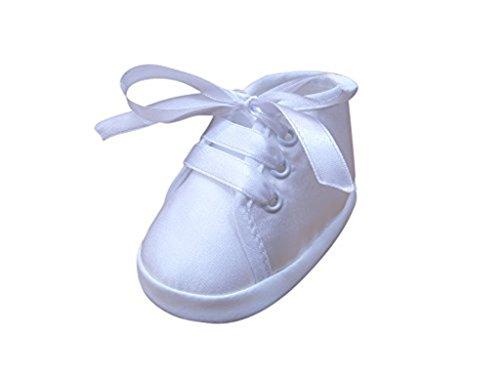 Festlicher Schuh für Taufe oder Hochzeit - Taufschuhe für Baby Babies Jungen Kinder, TP13 Gr. 18 (Taufe Taufe Kleid Seide)