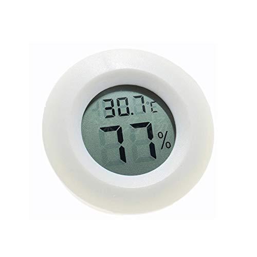 BulzEU Mini Round Digital Hygrometer Thermometer für Reptilien Terraristik Terrarien & Zubehör (Weiß)