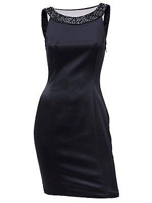 Ashley Brooke event Damen-Kleid Cocktaikleid mit Perlen Blau Größe 38