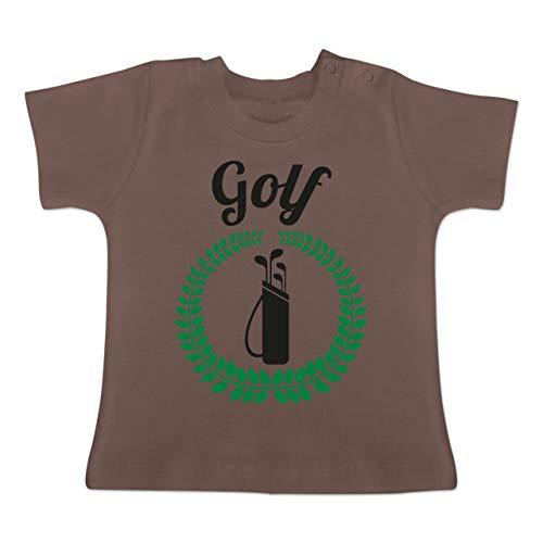 Evolution Baby - Lorbeerkanz Golftasche - 1-3 Monate - Braun - BZ02 - Baby T-Shirt Kurzarm -