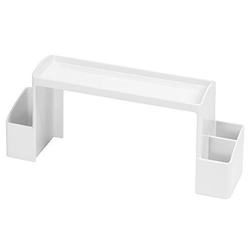 InterDesign Med+ Bathroom Storage Unit, Free-Standing Plastic Shelf for Medicine, Supplements and Bathroom Accessories, White