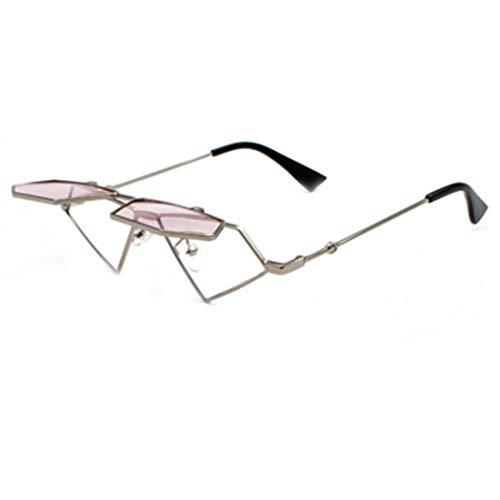 Aiweijia Frauen Harajuku Stil Flip Sonnenbrille Hip Hop Retro dekorative Brille Rahmen Pop Brille Sonnenbrille