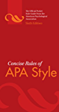 Concise Rules of APA Style, Sixth Edition (Concise Rules of the American Psychological Association (APA) Style)