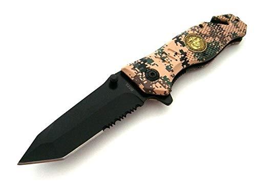 KOSxBO® Rettungsmesser Pixel Tarnfarben Camouflage 3-in-1 Rescue Knife Messer Emergency