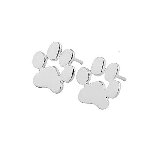 Leisial Metal Pendientes de Pies de los Animales Estilo Sencillo Joyería Accesorios para Mujeres 10*11mm