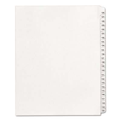 allstate-style-legal-side-tab-dividers-25-tab-126-150-letter-white-25-set-by-averyaaaar