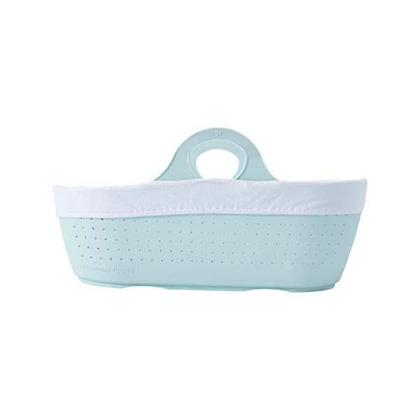 Tommee Tippee Sleepee Baby Moses Basket and Rocking Stand Green Tommee Tippee Safe, modern, portable baby moses basket, perfect to keep your newborn baby nearby as they sleep, day or night. your sleepee moses basket comes with complete with mattress, liner and rocking stand. Choose static or rocking position, the curved base on the stand allows you to gently rock your baby to sleep and features adjustable safety stops to give you the option of rocking or keeping it still. Easy to clean, the sleepee moses basket can be cleaned with warm soapy water. the water-resistant mattress cover is wipe clean and machine washable. the 100 % cotton liner is machine washable. 7