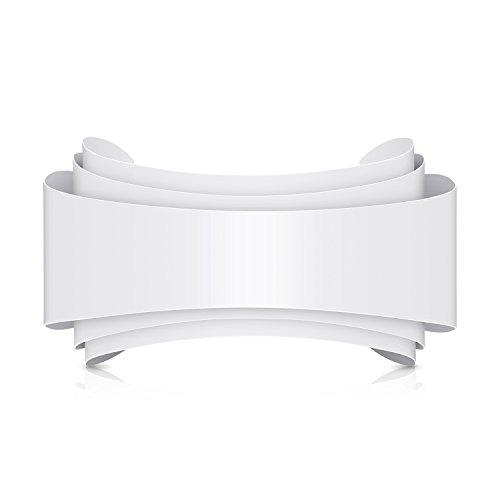 Albrillo lampada da parete a led di ferro + alluminio in forma ellittica 10w bianco caldo 2800-3200k 800lm,applicazione di spazio di soggiorno, sala da pranzo, studio, camera da letto, corridoio, ecc