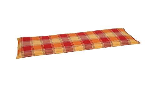 baumarkt direkt Bankauflage, (LxB): ca. 142x46 cm 1 Auflage, gelb, rot, terracotta