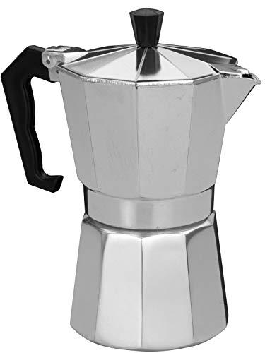 hibuy Espressokocher: Moka Espresso-Kocher für 6 Tassen, für Gas, Elektro-Herd und Ceran-Feld (Espressokocher für den Herd)