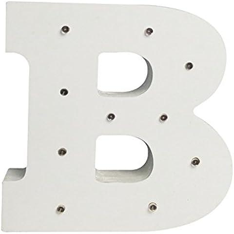 Il nome delle luci, in legno bianco accendere lettere A-Z Marriage bambino in piedi o decorazione montaggio A parete, B