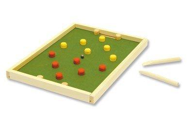 matches21 Tisch Fussball / Hockey Spiel als Holz Bausatz f. Kinder Werkset Bastelset ab 11 Jahren