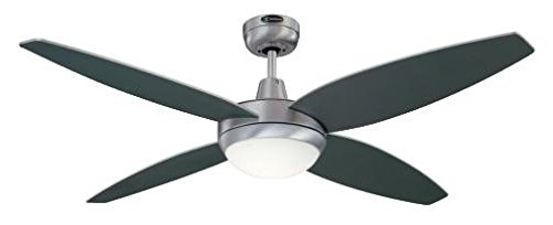 31ew3fk3jWL - Westinghouse Ceiling Fans 72546 Havanna One-Light 132 cm Four-Blade Indoor Ceiling Fan, Brushed Aluminum Finish with…