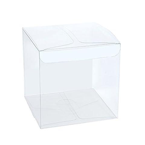 LaRibbons 30Pcs PET Transparent Boxes / Clear Gift Boxes for