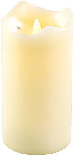 Britesta Flackerkerzen: LED-Echtwachskerze mit beweglicher Flamme, 18 cm hoch (LED-Wachs-Kerzen)