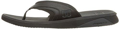 DC Shoes Men's Recoil Flip Flops Sandals Black (blk)