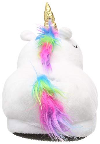 Alsino Einhorn Kuschel Plüsch Hausschuhe Unicorn - Größe: 36-38, Farbe: Weiss - Puschen Rutschfeste Sohle