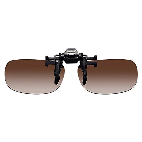 One-piece Sonnenbrillen-Clip Polarisierende Flip Up,UV 400 Sonnenbrille Brillen Aufsatz Clipon Clip On's Brille Sonnenbrillen,Sonnenbrillen-Clip für Brillenträger (Dunkelbraun)