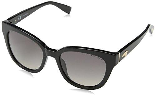 Trussardi Damen Str017 Sonnenbrille, Beige (SHINY BLACK), Einheitsgröße