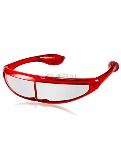 Spaceman UFO Light Up LED Glasses / Shades - Red by Mammoth Sales