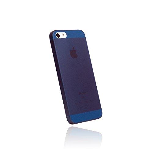 hardwrk Ultra-Slim Case - kompatibel mit Apple iPhone 5, 5S und SE - matt blau - ultradünne Schutzhülle Handyhülle Cover Hülle in deep sea Blue -