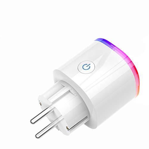 Ancoree Mise à Jour WiFi Smart RGB Prise avec Minuterie,RGB Prise Intelligente,Éclairage de Scène Télécommande Sans fil APP,Fonctionne avec Amazon Alexa, Google Home et IFTTT,3840W &16A
