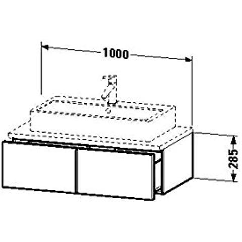 Duravit lavabo debajo del gabinete para consola Vero 518 x 1000 x 285 mm 1 cajón, colour roble oscuro de cepillado, VE655207272