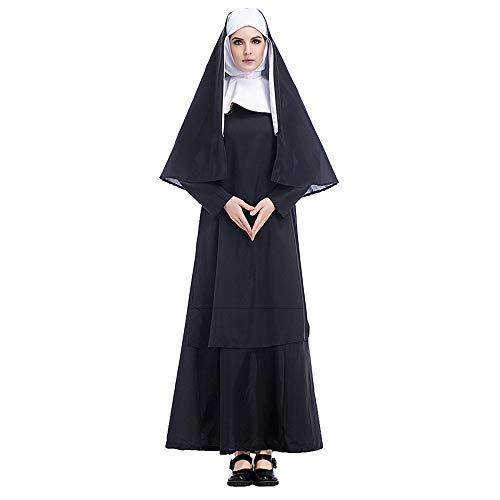 COSOER Vater Nonne Maria Cosplay Kostüm Jesus Christus Missionar Priester Kleidung Für Halloween Männlich/Weiblich Wear,Female-S