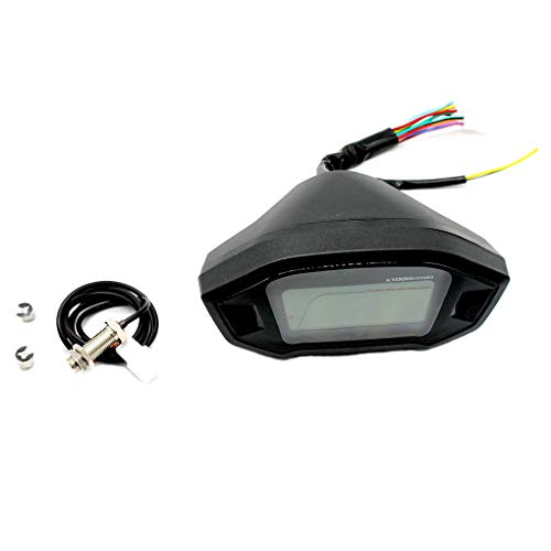 Ben-gi Motorrad-LCD-Schirm-Tacho Motorrad Odometer Roller Tachometer-Lehre ABS-Case-Zeitanzeige (Ben 10 Roller)
