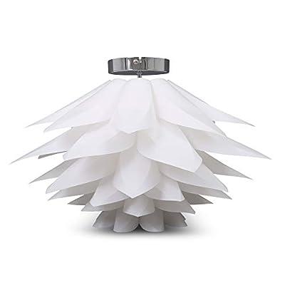 Lampadario a sospensione moderno I plafoniera a fiore I lampada da soffitto per camera da letto o soggiorno I corpo plastica, bianco I montaggio lampadina E27 I IP20