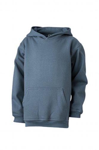 James & Nicholson Jungen Hooded Sweat Junior Sweatshirt, Grau (carbon), XX-Large (Herstellergröße: XXL (158/164)) -