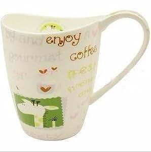 Gobelet-tasse verre à boire en céramique lapin mignon girafe thé café new