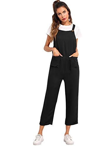 SOLY HUX Mujer Baggy Peto Chicas Mono Largo Pantalones