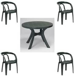 Salon Jonquieres 4 fauteuils + 1 table: Amazon.fr: Jardin