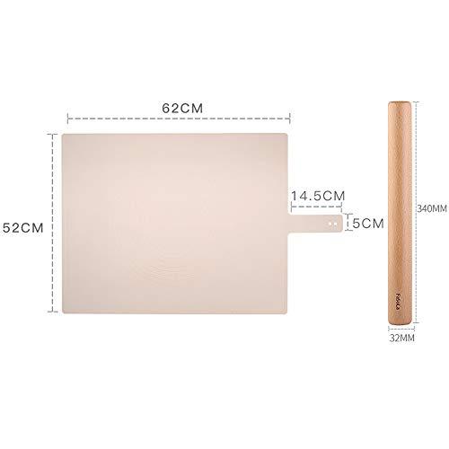 xgvvb Silikonmatte MatteLebensmittelqualität Panel Haushaltsbackenwerkzeugerosa+großflächige