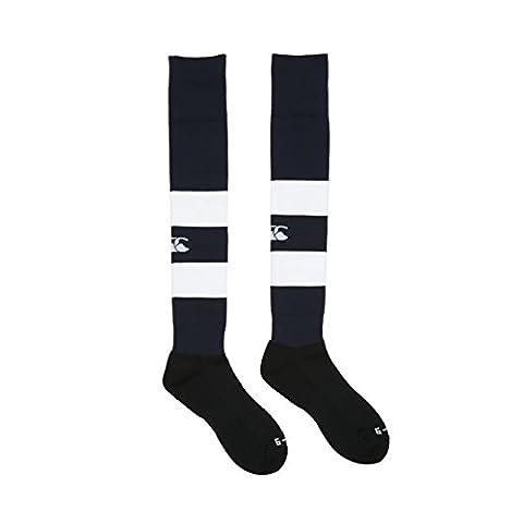 Canterbury Men's Hooped Playing Sock, Navy-