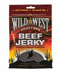 Wild West Honey BBQ Natural Beef Jerky Miel BBQ Boeuf séché Pack de 12 x 25g