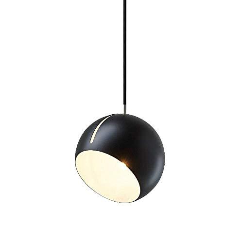 BAIF Postmoderne justierbare hängende Leuchte, geometrische schräge runde Kugel-Eisen-Dekoration-Decken-hängende Lampe, für Schlafzimmer-Wohnzimmer-Esszimmer-Stab E27 Leuchter-Beleuchtung (Farbe: